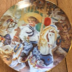 😀Collectors Plate Carousel of Dreams